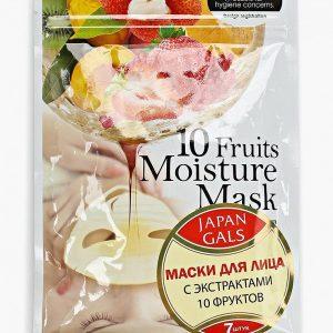 Набор масок для лица Japan Gals Маска с экстрактами 10 фруктов Pure5 Essential 7 шт