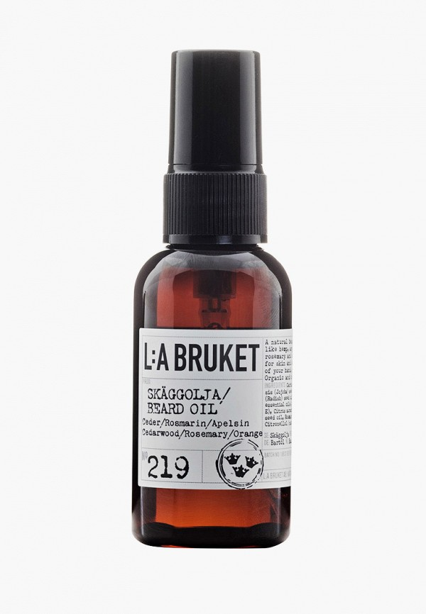 Масло для бороды La Bruket 219 CEDER/ROSMARIN/APELSIN/CEDARWOOD/ROSEMARY/ORANGE