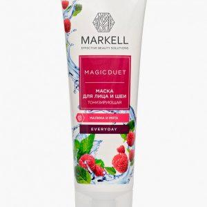 Маска для лица Markell Markell 16883 МАСКА ДЛЯ ЛИЦА И ШЕИ ТОНИЗИРУЮЩАЯ (МАЛИНА И МЯТА)